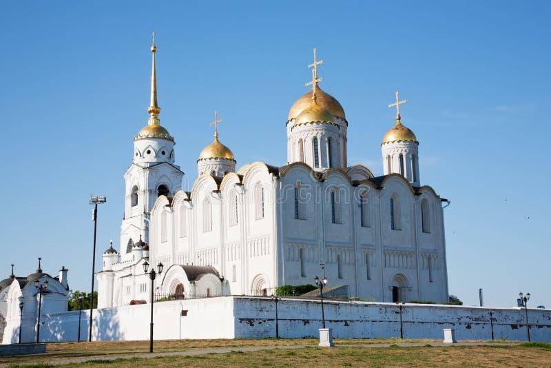 Catedral de la asunción en Vladimir fotos de archivo