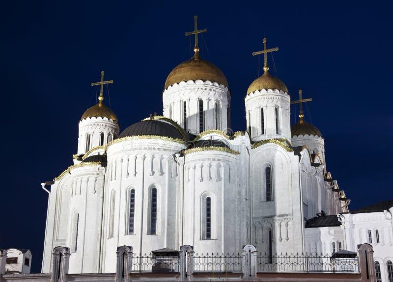 Catedral de la asunción en Vladimir imagenes de archivo