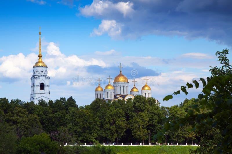 Catedral de la asunción en Vladimir imagen de archivo