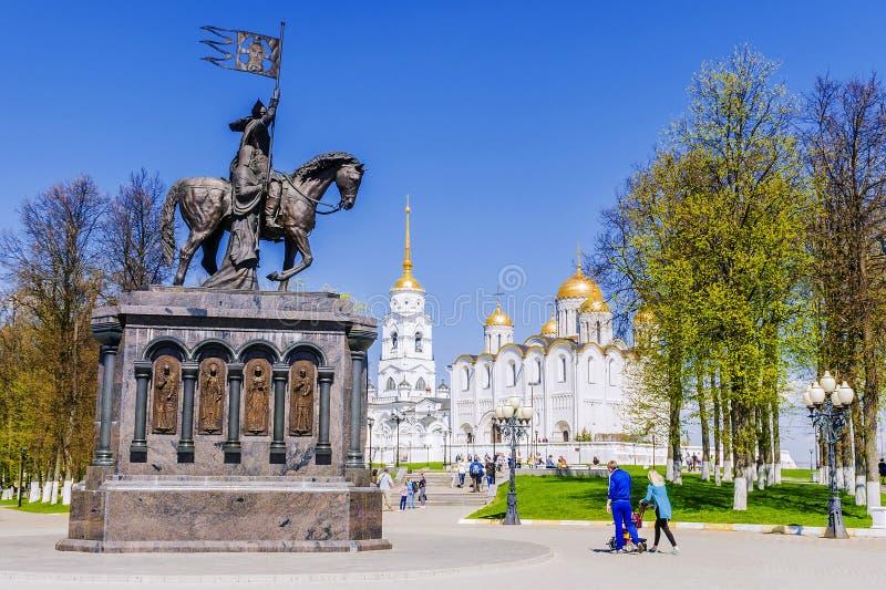 Catedral de la asunción en Vladimir Anillo de oro de Rusia fotografía de archivo