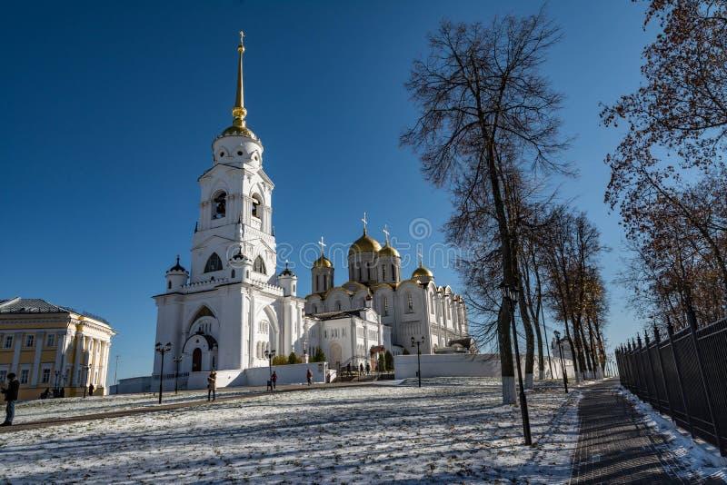 Catedral de la asunción en Vladimir Anillo de oro de Rusia imagenes de archivo