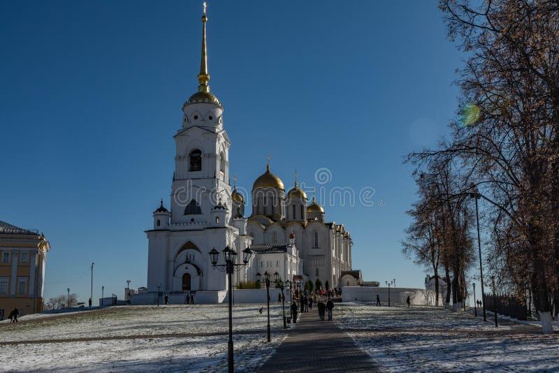 Catedral de la asunción en Vladimir Anillo de oro de Rusia imagen de archivo libre de regalías