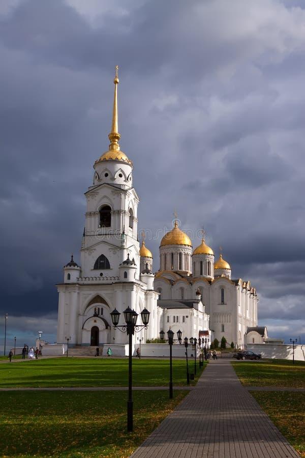 Catedral de la asunción en Vladimir en otoño fotos de archivo libres de regalías