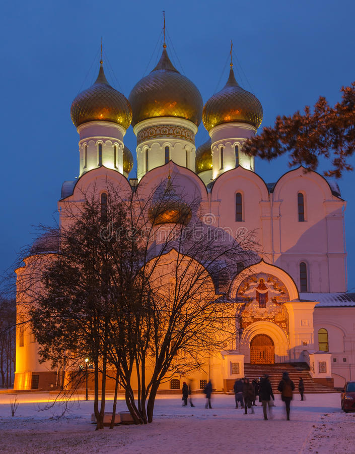 Catedral de la asunción en Yaroslavl foto de archivo libre de regalías