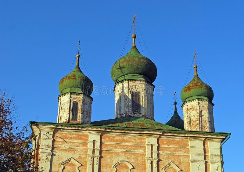 Catedral de la asunción Monasterio de Goritsky de Dormition en la ciudad de Pereslavl-Zalessky Rusia fotos de archivo