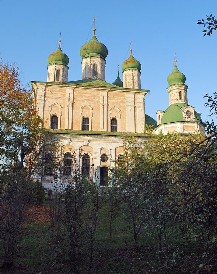 Catedral de la asunción Monasterio de Goritsky de Dormition en la ciudad de Pereslavl-Zalessky Rusia imagen de archivo libre de regalías