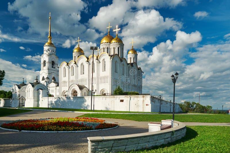 Catedral de la asunción Vladimir, foto de archivo libre de regalías