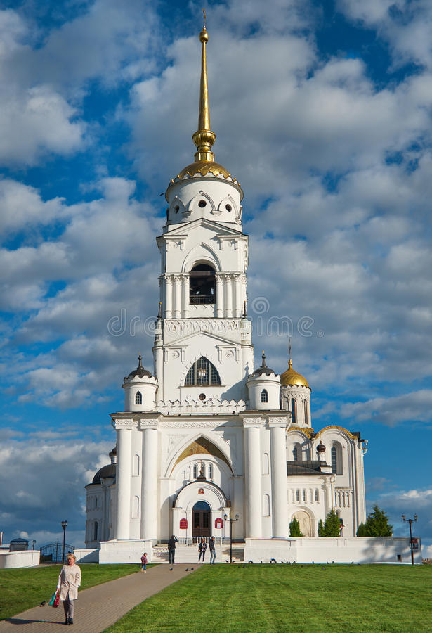 Catedral de la asunción Vladimir, foto de archivo