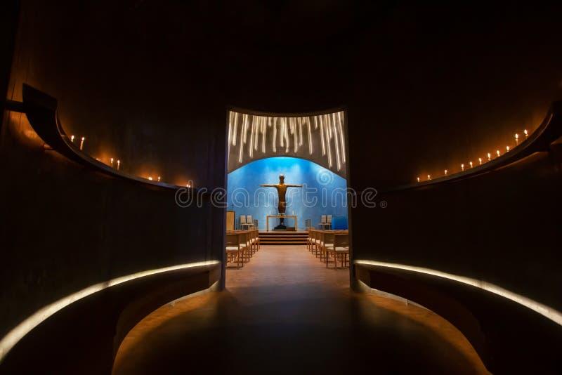 Catedral de la aurora boreal El espacio interno de la iglesia foto de archivo libre de regalías
