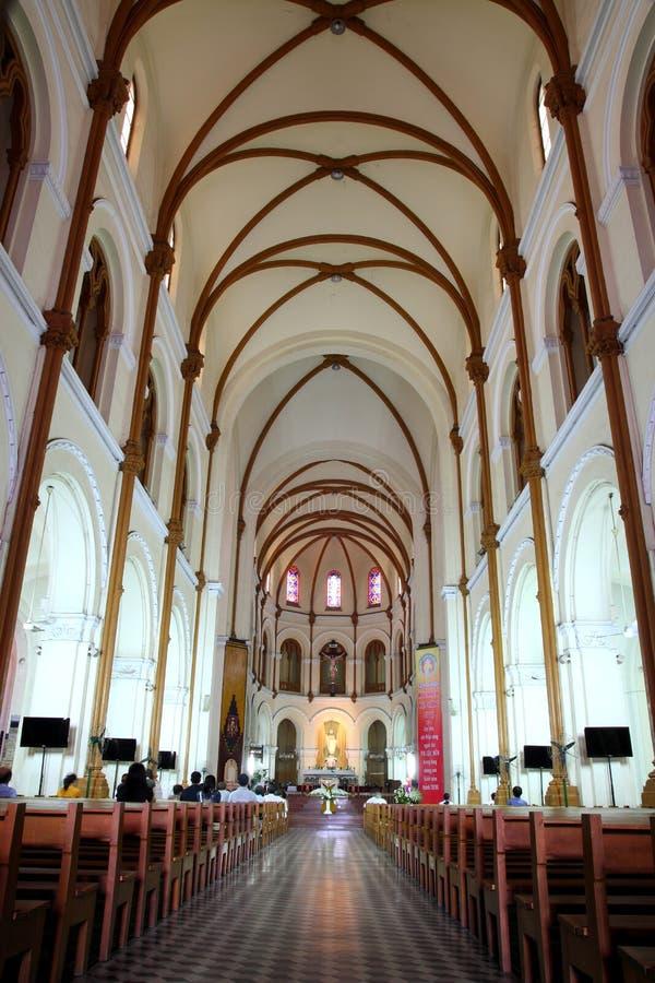 Catedral de la basílica de Saigon Notre Dame, Vietnam foto de archivo libre de regalías