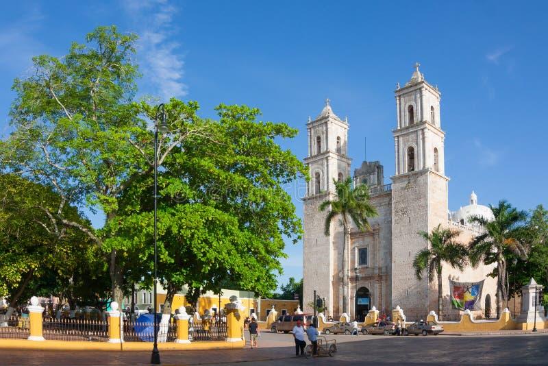 Catedral de la capital de San Ildefonso Merida de Yucatán México imagenes de archivo