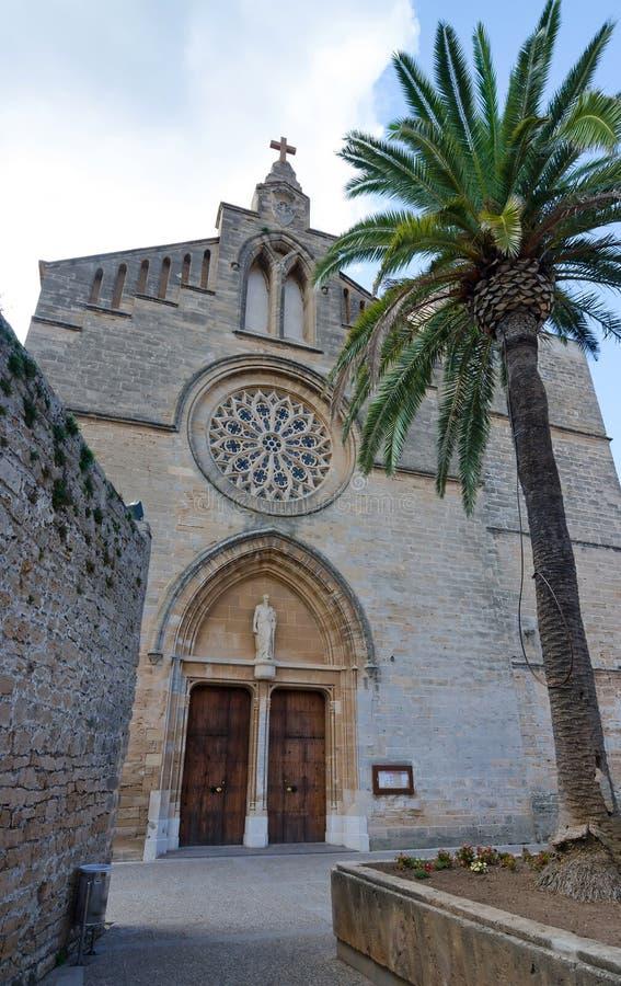 Catedral de la ciudad de Alcudia imagenes de archivo