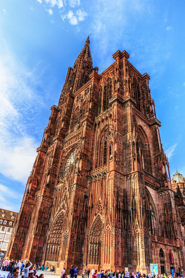 Catedral de la ciudad de Estrasburgo foto de archivo