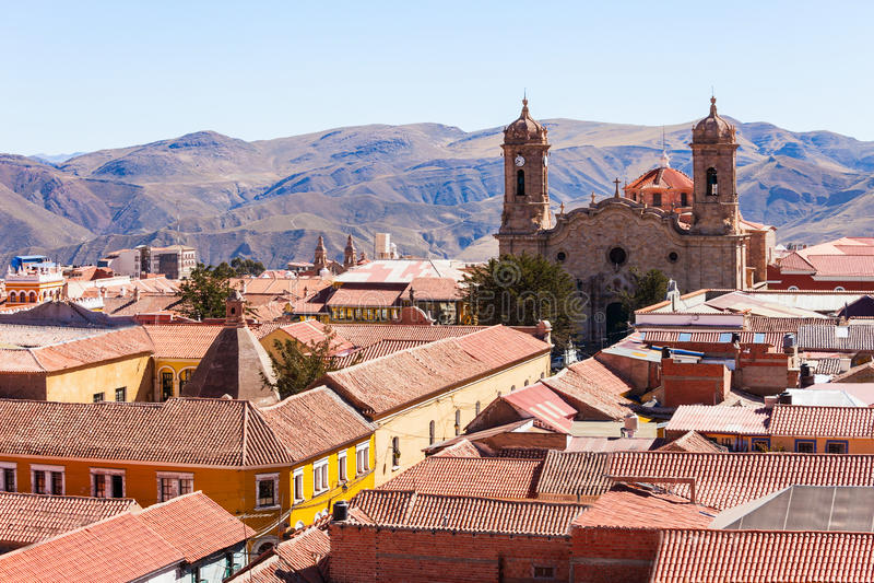 Catedral de la ciudad de Potosi imagen de archivo libre de regalías
