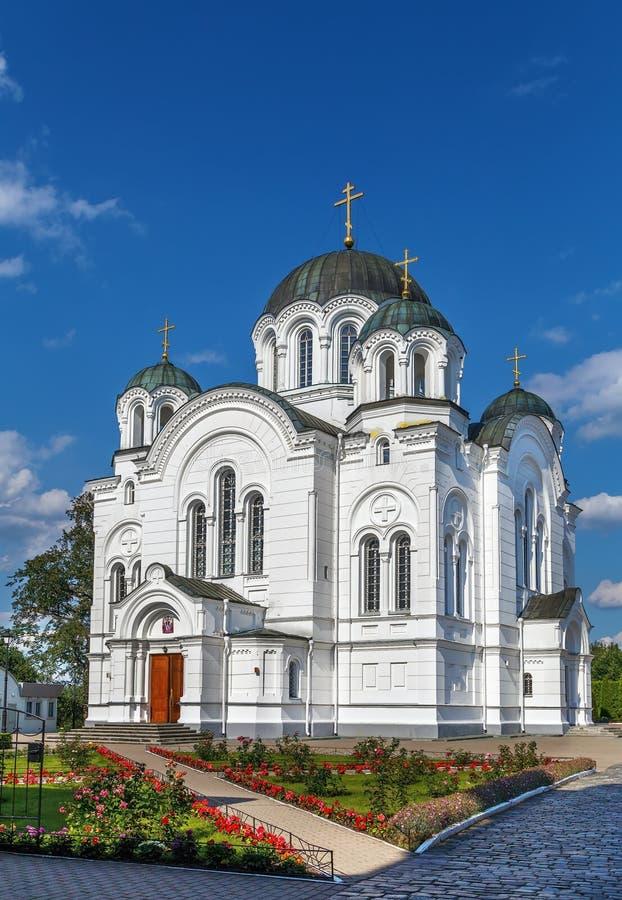 Catedral de la Cruz Santa, Polotsk, Bielorrusia foto de archivo libre de regalías