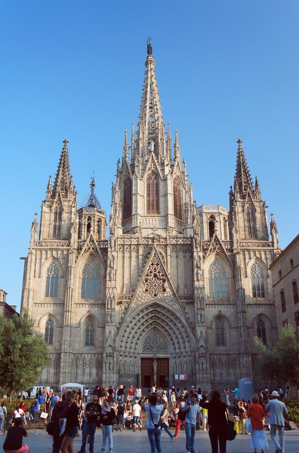 Catedral de la cruz y del santo santos Eulalia foto de archivo libre de regalías