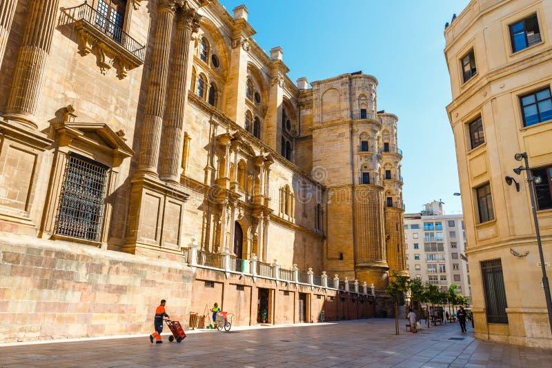 Catedral DE La Encarnacion DE Malaga werd gebouwd in 1782 Het is één binnen van de grootste kathedralen royalty-vrije stock afbeelding