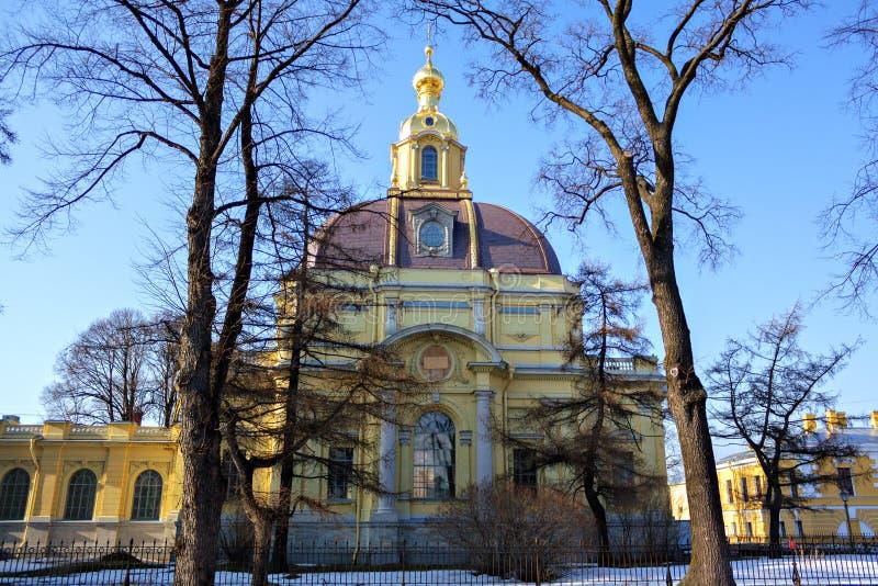 Catedral de la fortaleza de Peter y de Paul imágenes de archivo libres de regalías