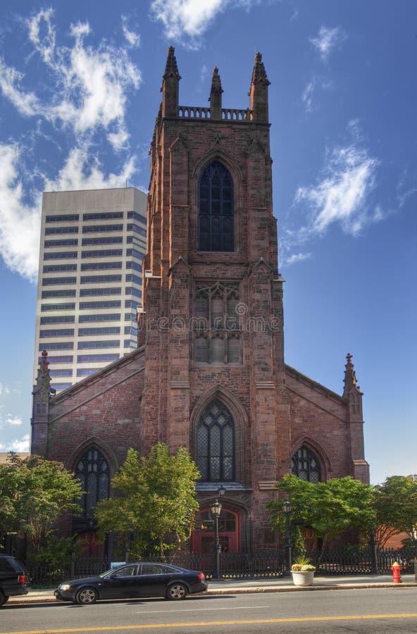 Catedral de la iglesia de Cristo en Hartford, Connecticut fotografía de archivo