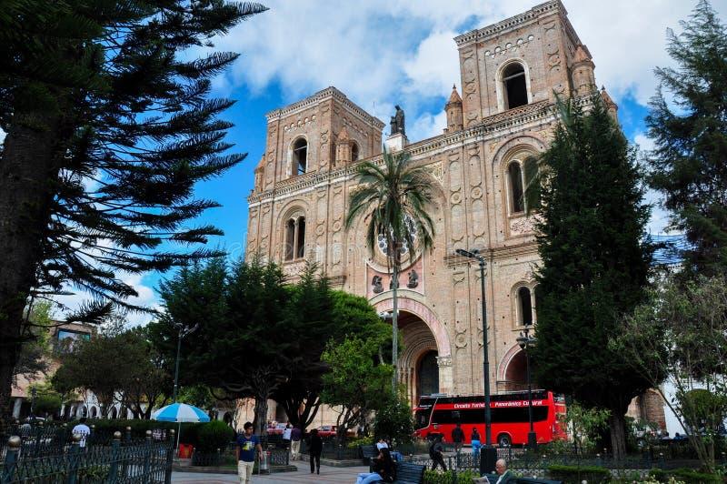 Catedral de la Inmaculada Concepción, Cuenca, Equador fotos de stock royalty free
