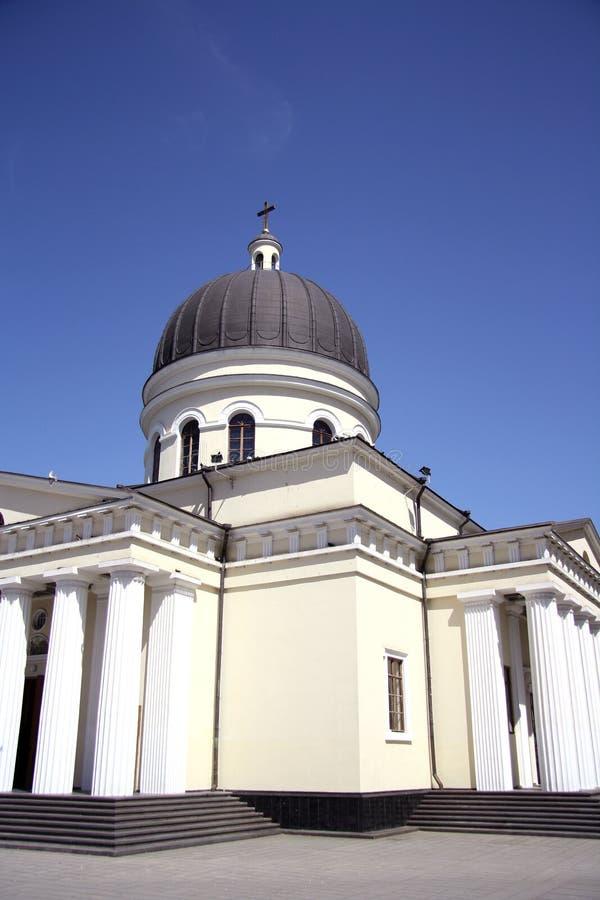 Catedral de la natividad de Cristo en Chisinau, el Moldavia fotografía de archivo libre de regalías