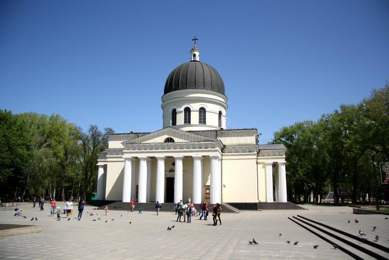 Catedral de la natividad de Cristo en Chisinau, el Moldavia imágenes de archivo libres de regalías