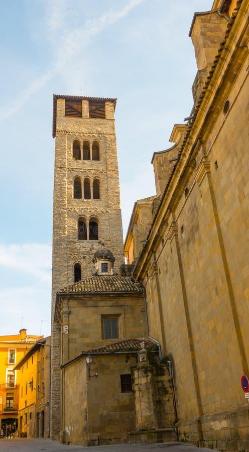 Catedral de la opinión del belltower de Vic fotografía de archivo