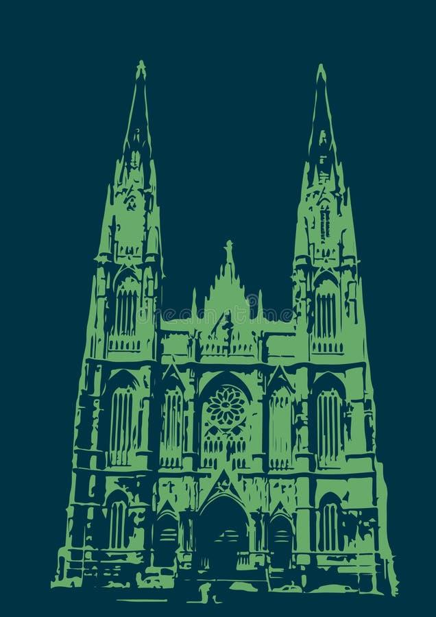 Catedral De La Plata - Blau und Grün lizenzfreie stockbilder