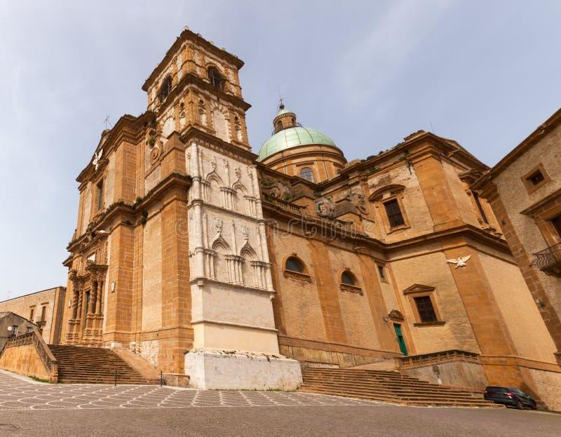 Catedral de la plaza Armerina foto de archivo