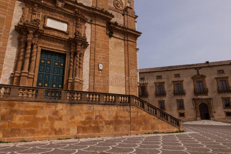 Catedral de la plaza Armerina imagen de archivo