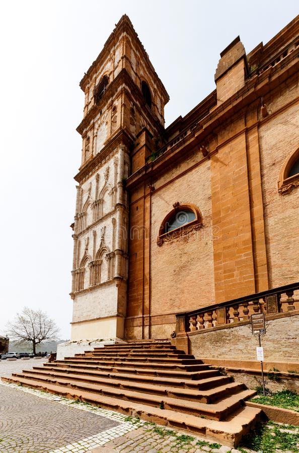Catedral de la plaza Armerina fotos de archivo