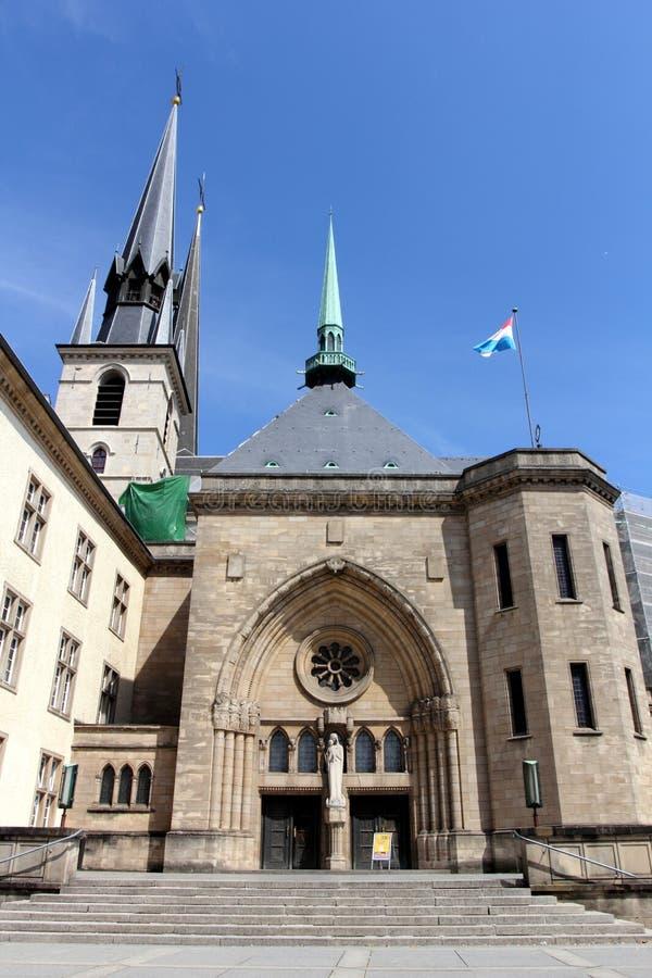 Catedral de la presa de Notre en Luxemburgo fotografía de archivo libre de regalías
