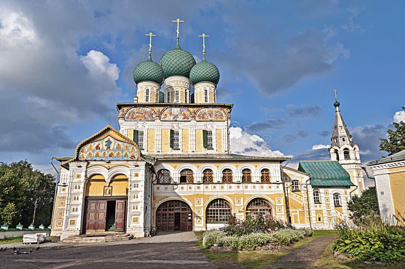 Catedral de la resurrección en Tutaev, Rusia imagen de archivo