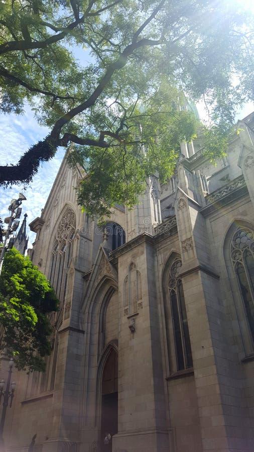 Catedral de la Sé no Sao Paulo Brazil fotos de stock