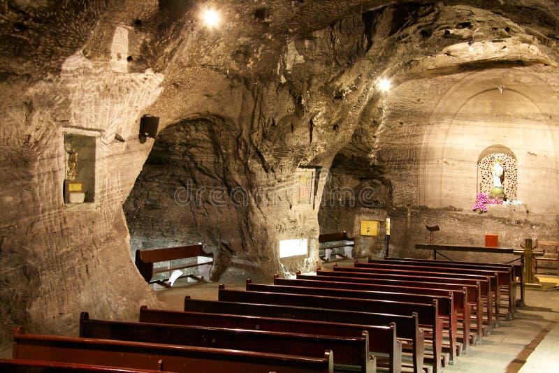 Catedral de la sal en Zipaquira Colombia imagenes de archivo