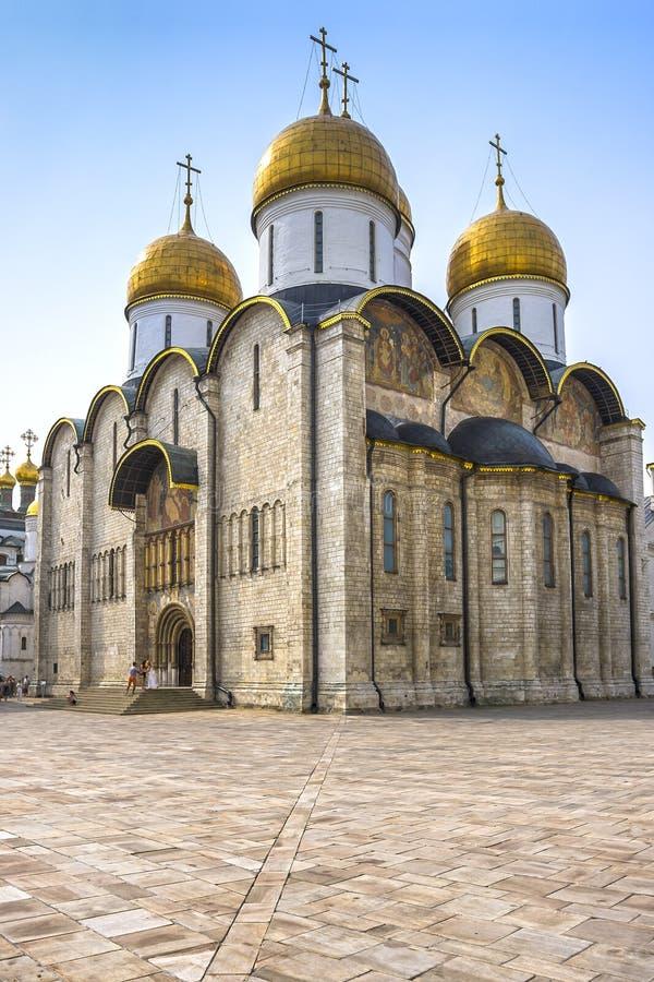 Catedral de la suposición de Moscú el Kremlin imágenes de archivo libres de regalías