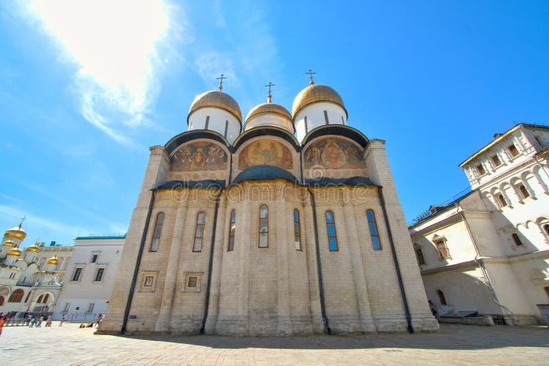 Catedral de la suposición en el palacio Moscú, Rusia del Kremlin fotografía de archivo