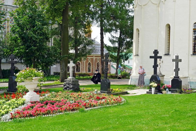 Catedral de la suposición en Sergiev Posad, RUSIA fotos de archivo libres de regalías