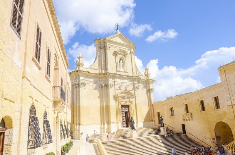 Catedral de la suposición, Gozo, Malta imagen de archivo