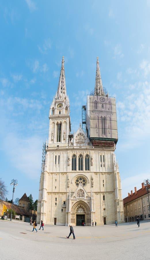 Catedral de la suposición Zagreb, Croacia foto de archivo