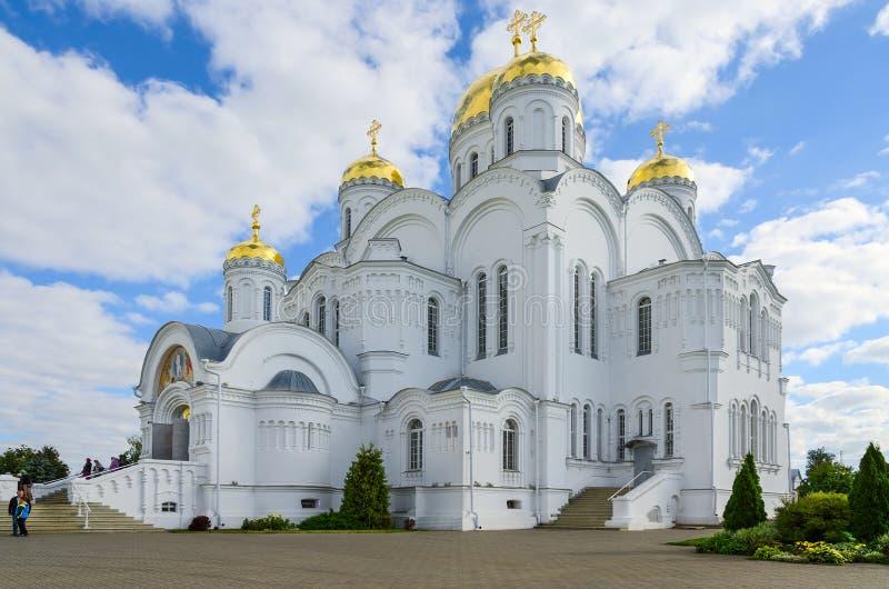 Catedral de la transfiguración del salvador del serafín-Diveev de la trinidad santa fotografía de archivo libre de regalías