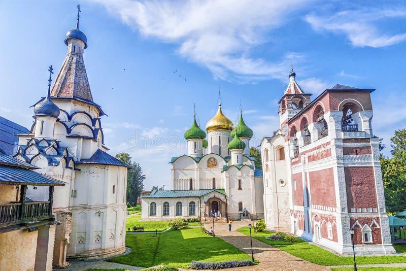 Catedral de la transfiguración del salvador, monasterio del santo imagen de archivo