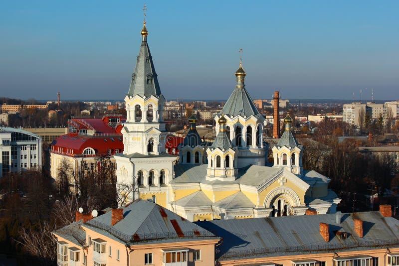 Catedral de la transfiguración santa en Zhytomyr, Ucrania fotos de archivo