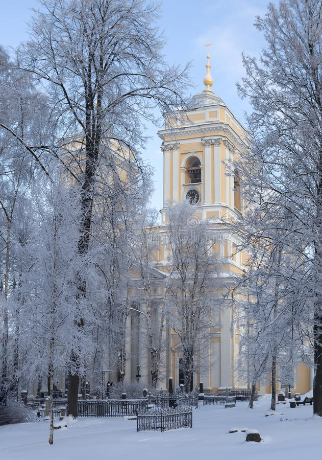 Catedral de la trinidad de Alexander Nevsky Lavra St Petersburg Rusia imagen de archivo