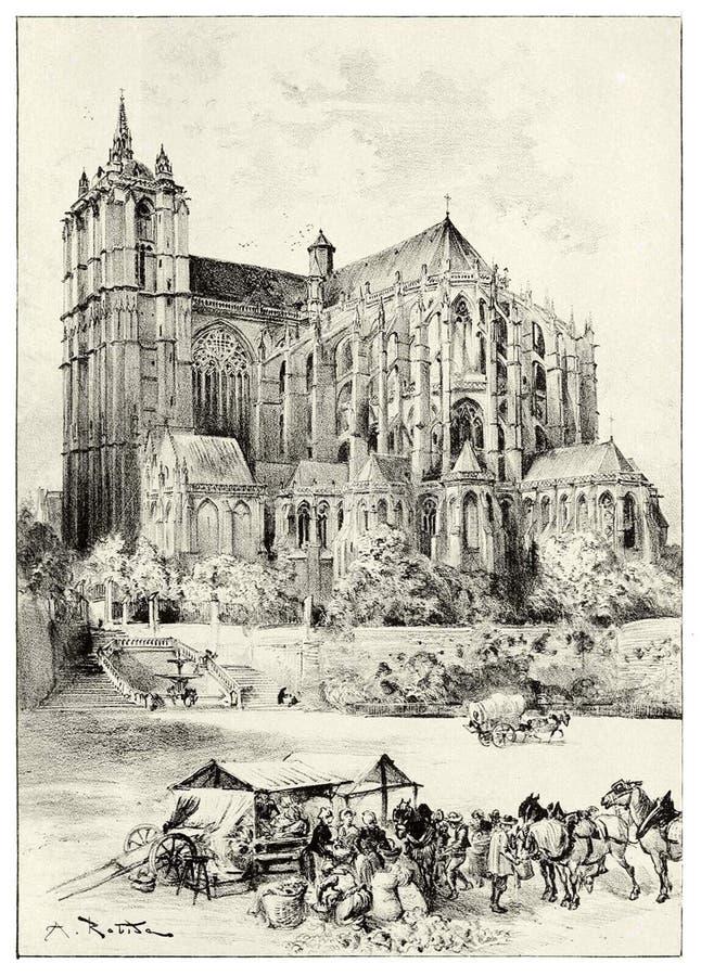 Catedral de Le Mans imagens de stock royalty free