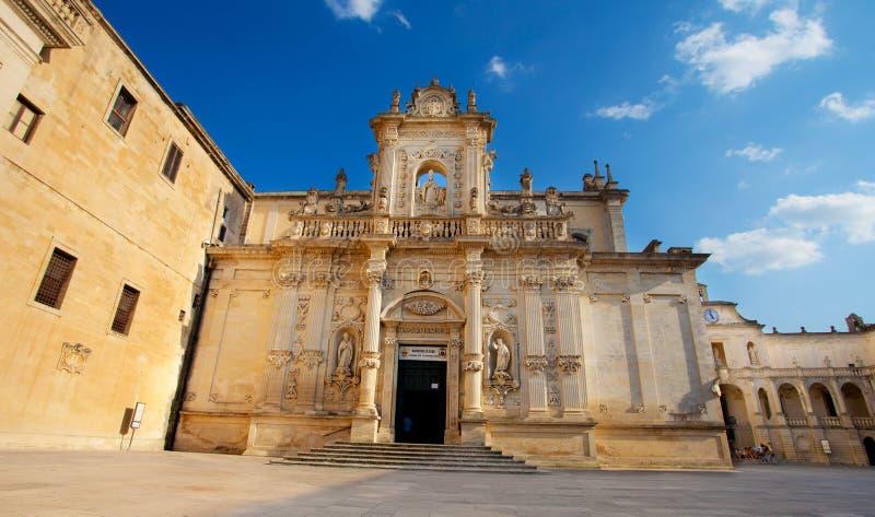 Catedral de Lecce imagens de stock royalty free