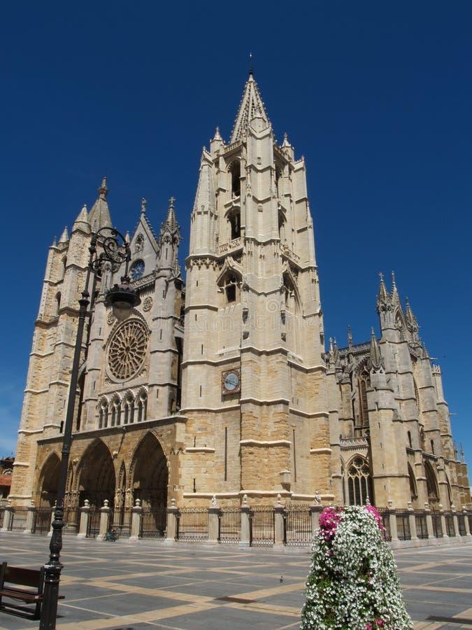 Catedral de Leon fotografia de stock royalty free