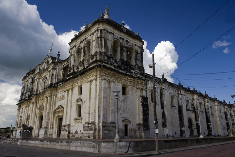 Catedral de Leon imagenes de archivo