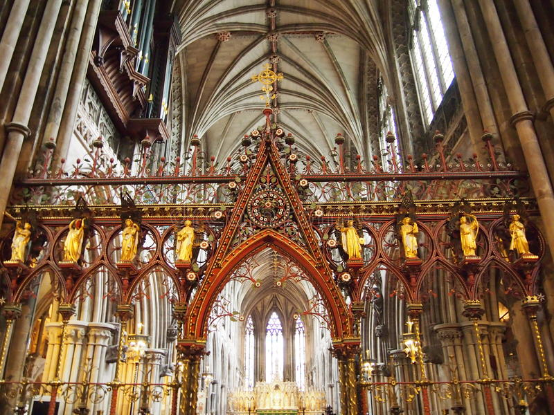 Catedral de Lichfield fotografia de stock royalty free