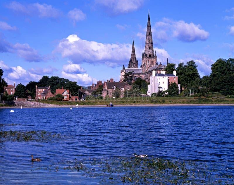Catedral de Lichfield e associação de Stowe foto de stock